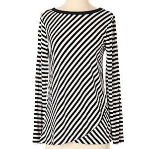 Sunday Long Sleeve Striped Blouse